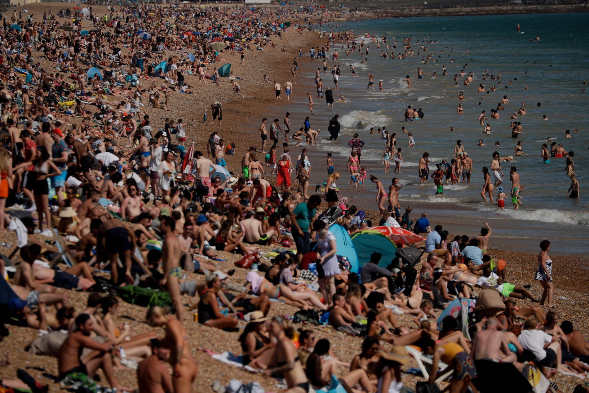 Stranden i Brighton.