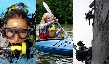 Vildmarksmässan bjuder på allt för dykaren, paddlaren och klättraren.