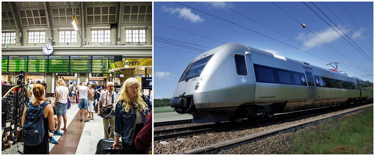 SJ kör med extra många tåg i midsommar på grund av ökad efterfrågan på biljetter.