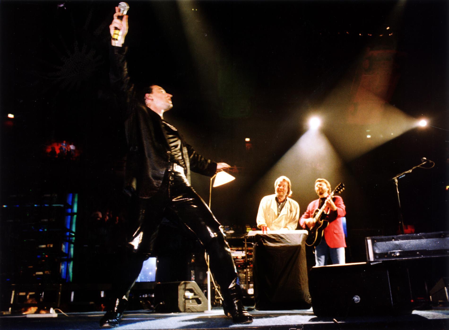 Bono, Benny och Björn på Globen, 1992.