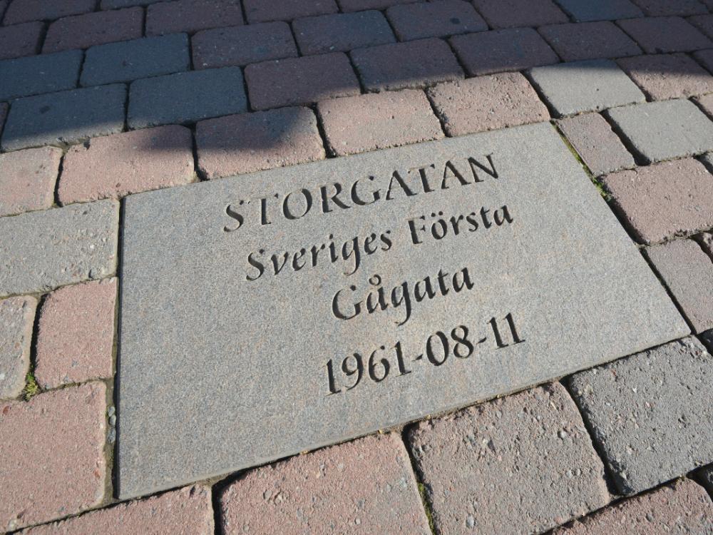 Storgatan i Piteå, Sveriges första gågata.