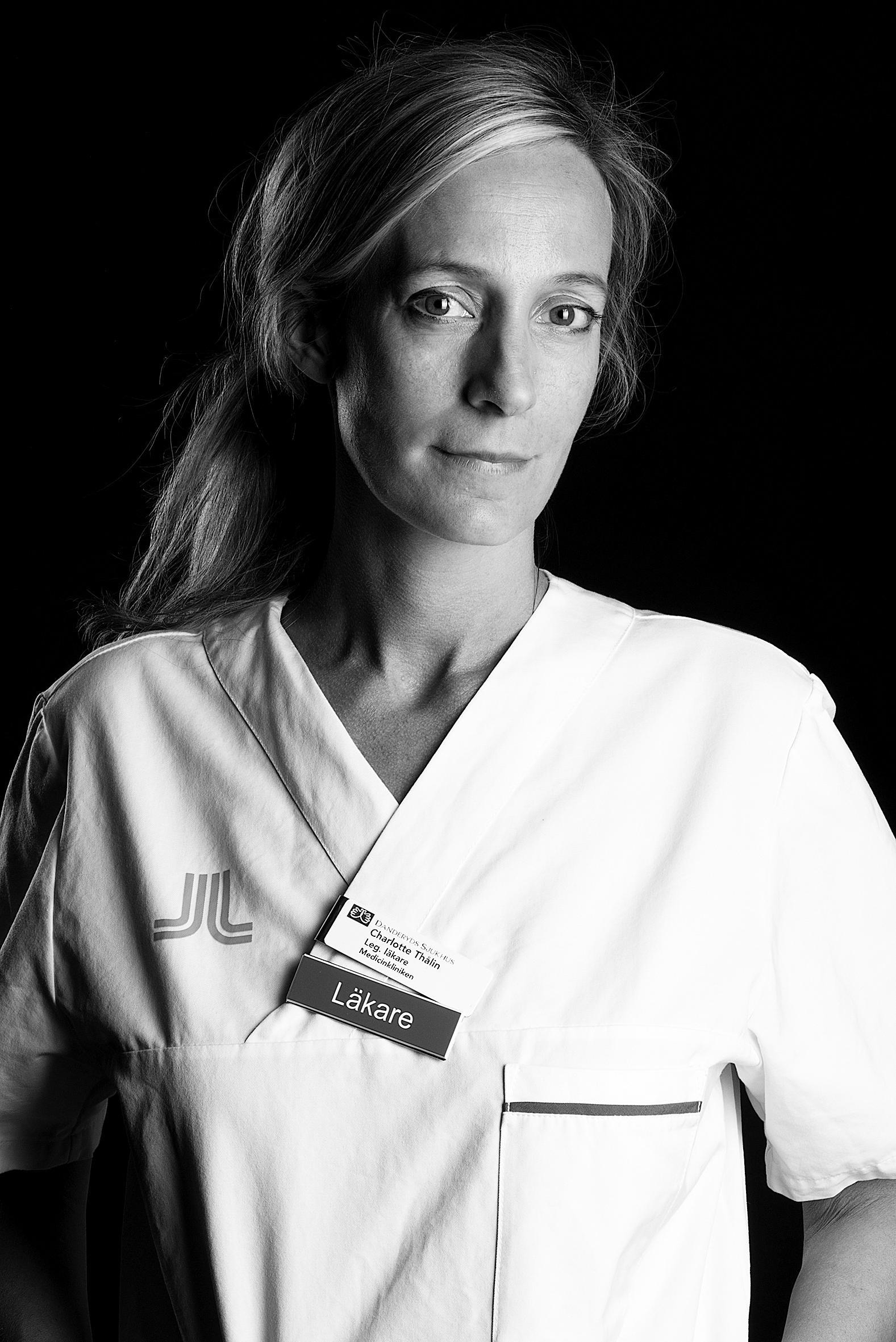 Charlotte Thålin, läkare på Danderyds sjukhus.