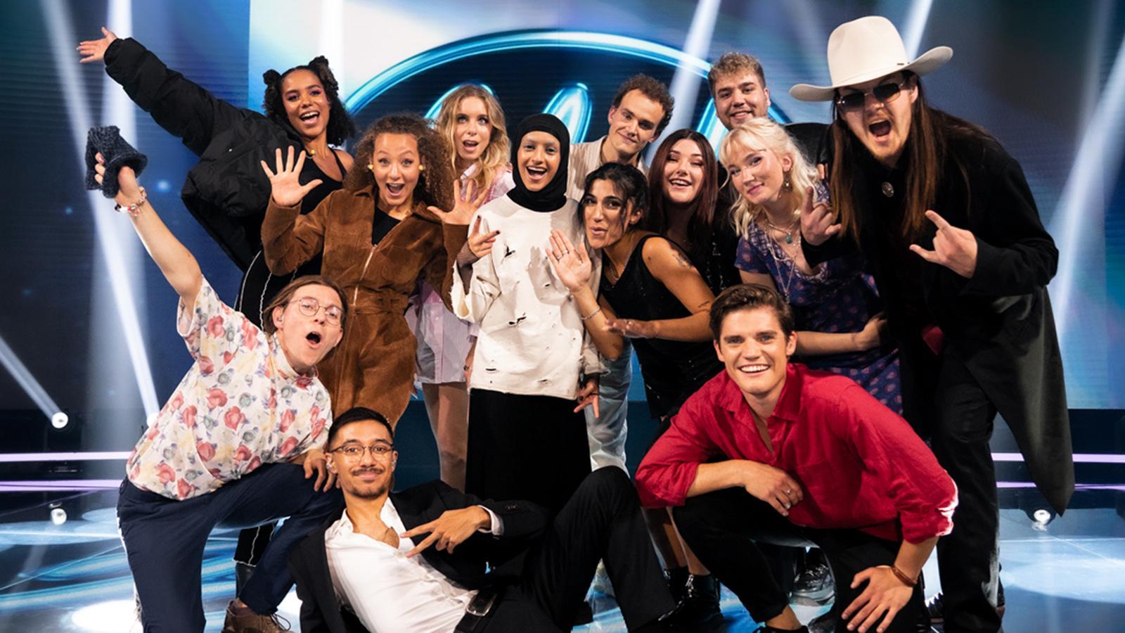 "Alla 13 finalisterna i ""Idol"" 2021."
