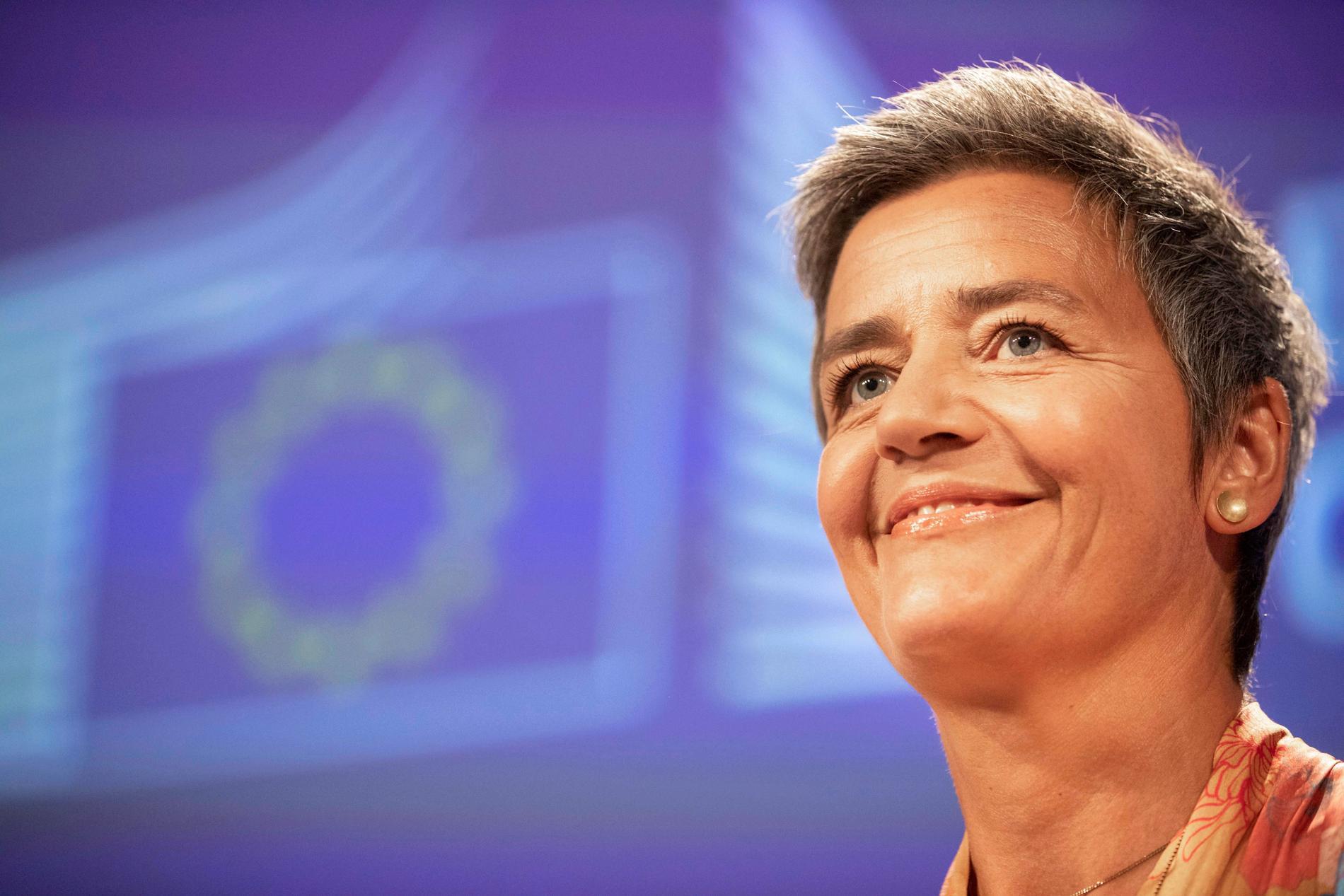 EU:s konkurrenskommissionär Margrethe Vestager. Arkivfoto.