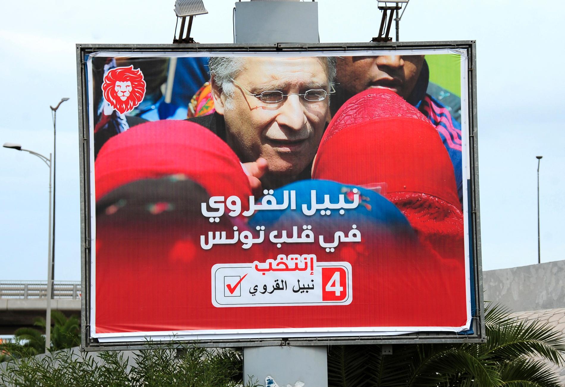 Den tunisiske presidentkandidaten Nabil Karoui, som sitter fängslad för misstänkt skattebrott, hungerstrejkar. Presidentvalet i Tunisien hålls på söndag.