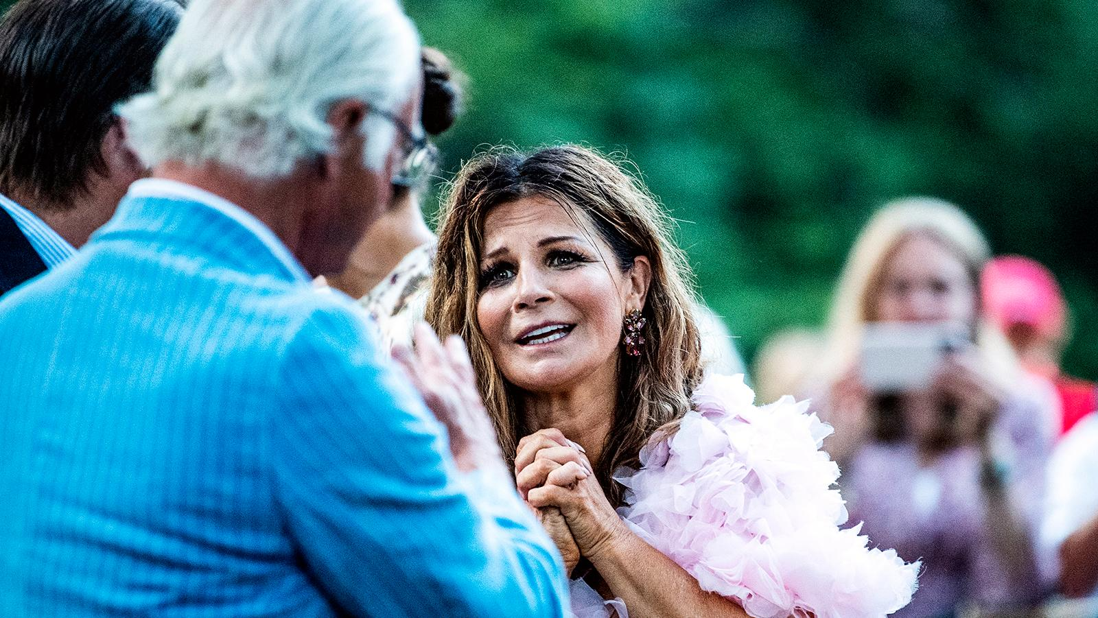 Carola i samtal med hans majestät i Borgholm i veckan.