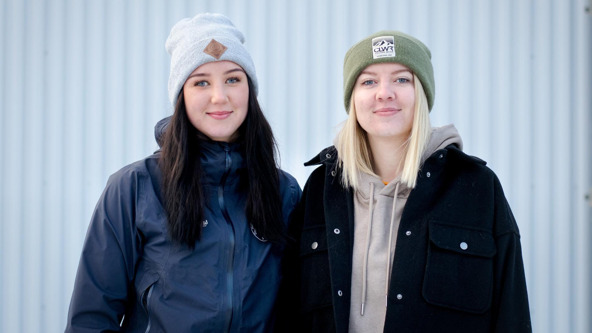 Linnea Stålhandske och Sandra Myhr jobbar inom hemtjänsten yttre i Sveg. De har tagit initiativ till en insamling så de kan köpa julklappar till sina vårdtagare.