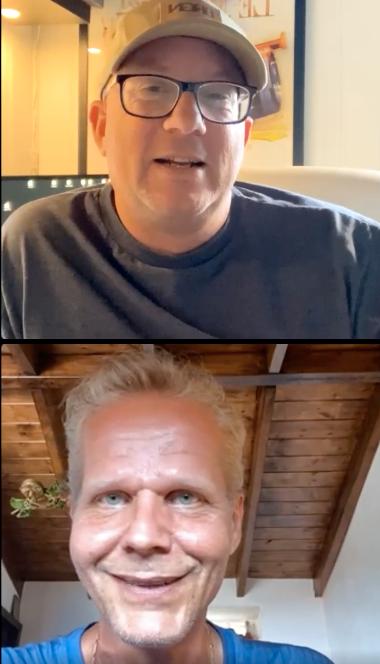 Ojfans Daniel Theander och Kaj Linna.
