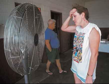 puh! En kvinna svalkar sig vid en stor fläkt under en värmebölja i USA. I en artikelserie i somras berättade Aftonbladet om hur den globala uppvärmningen kan påverka vår framtid. Statsvetaren Jonas Pettersson menar att artiklarna och FN:s klimatpanel målar upp felaktiga domedagsscenarier.