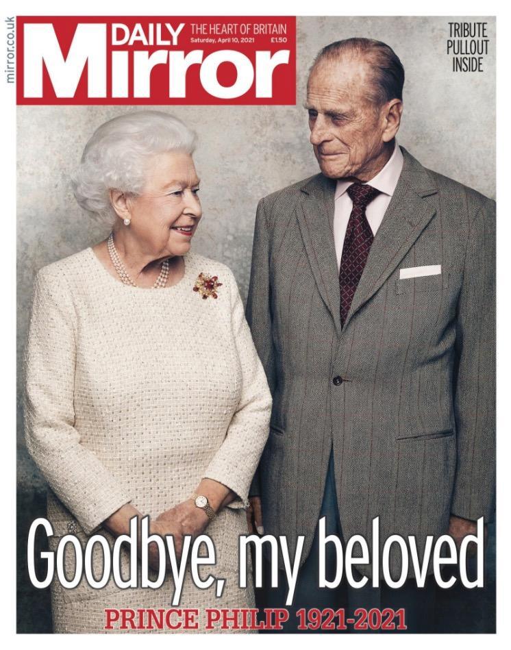 "Daily Mirror: ""Hejdå, min älskade""."