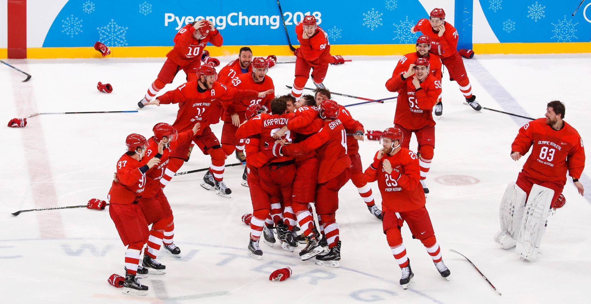Det ryska laget tog OS-guld i Pyeongchang och är regerande mästare. Arkivbild.