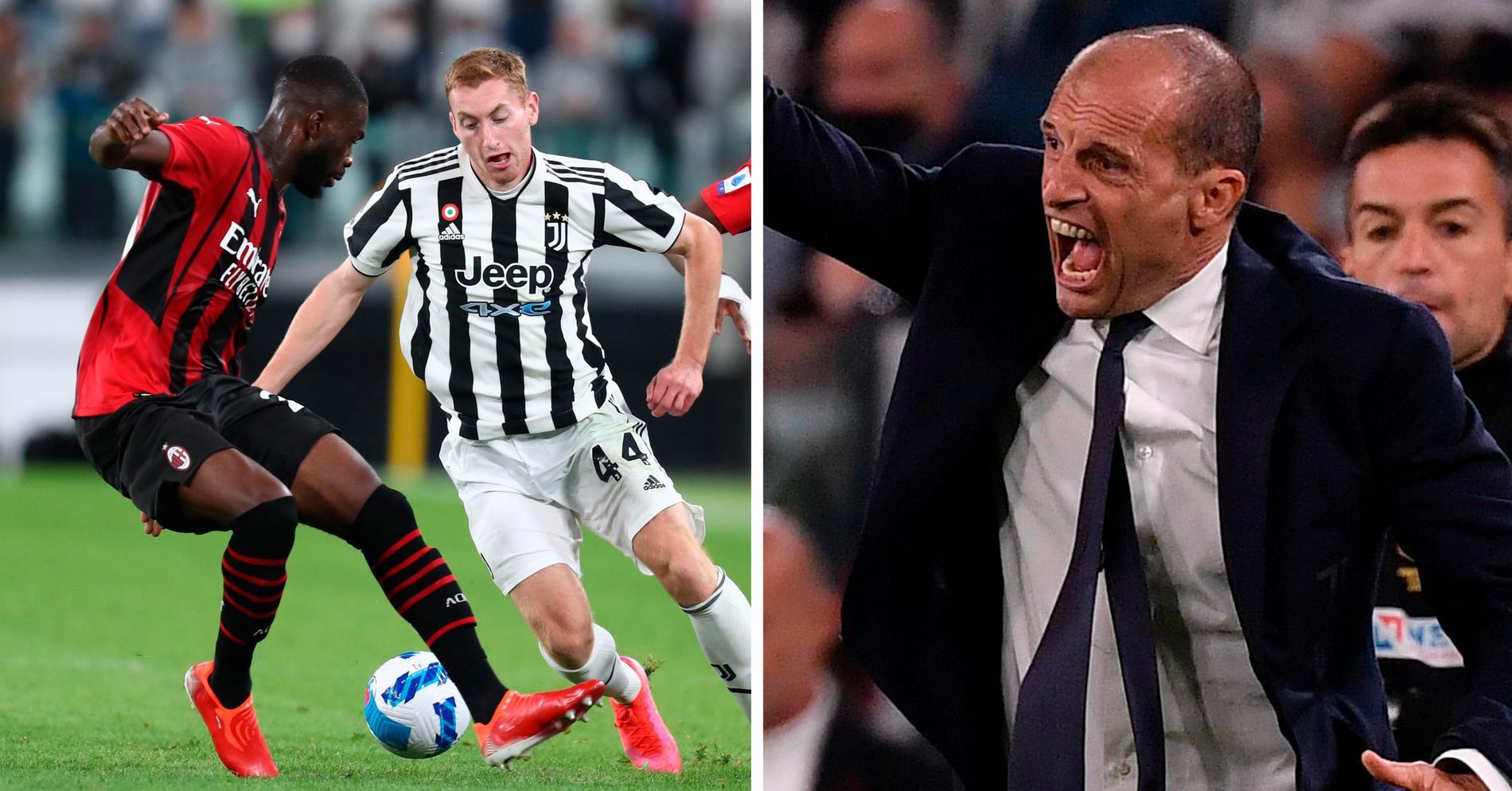 Massimiliano Allegri var inte nöjd efter Juventus match mot Milan.