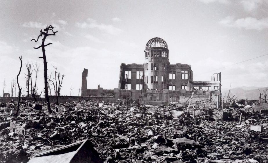 Förödelse efter bomben i Hiroshima.