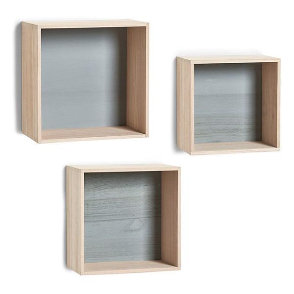 Vägghyllor Kub, 3-pack/399 kr, Bauhaus