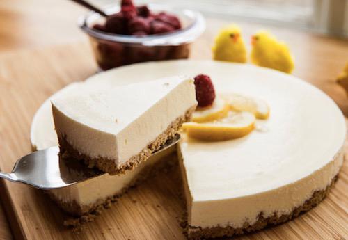 En härlig cheesecake till efterrätt.