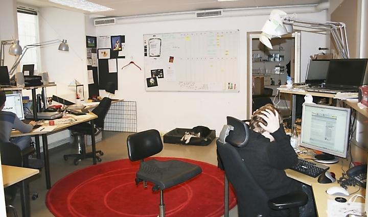 Norwebs kontor före sin makeover.