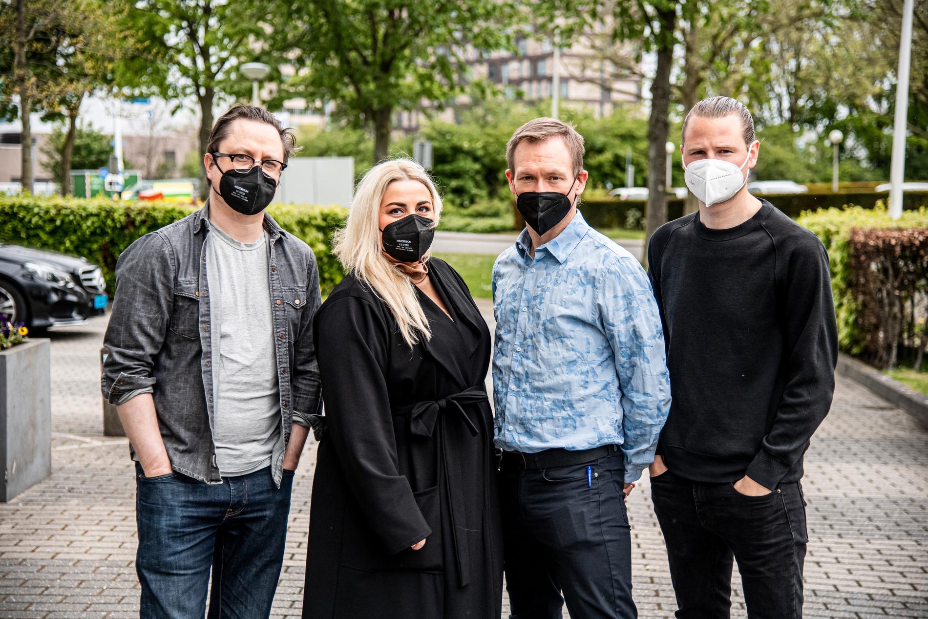 Aftonbladets reportrar Markus Larsson, Natalie Demirian, Torbjörn Ek och Robin Lorentz-Allard.