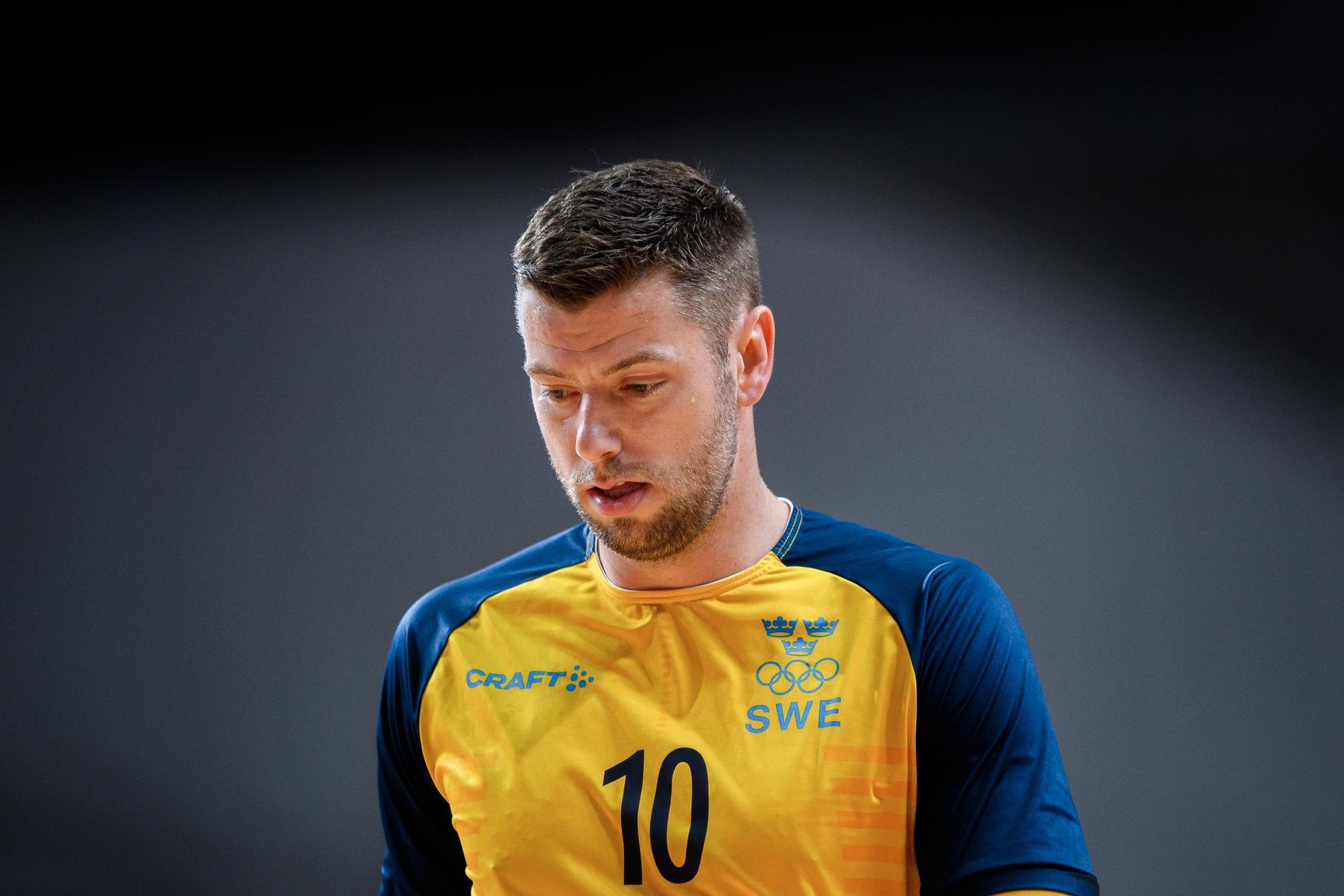 Niclas Ekberg under Sverige-Spanien i OS-kvartsfinalen.