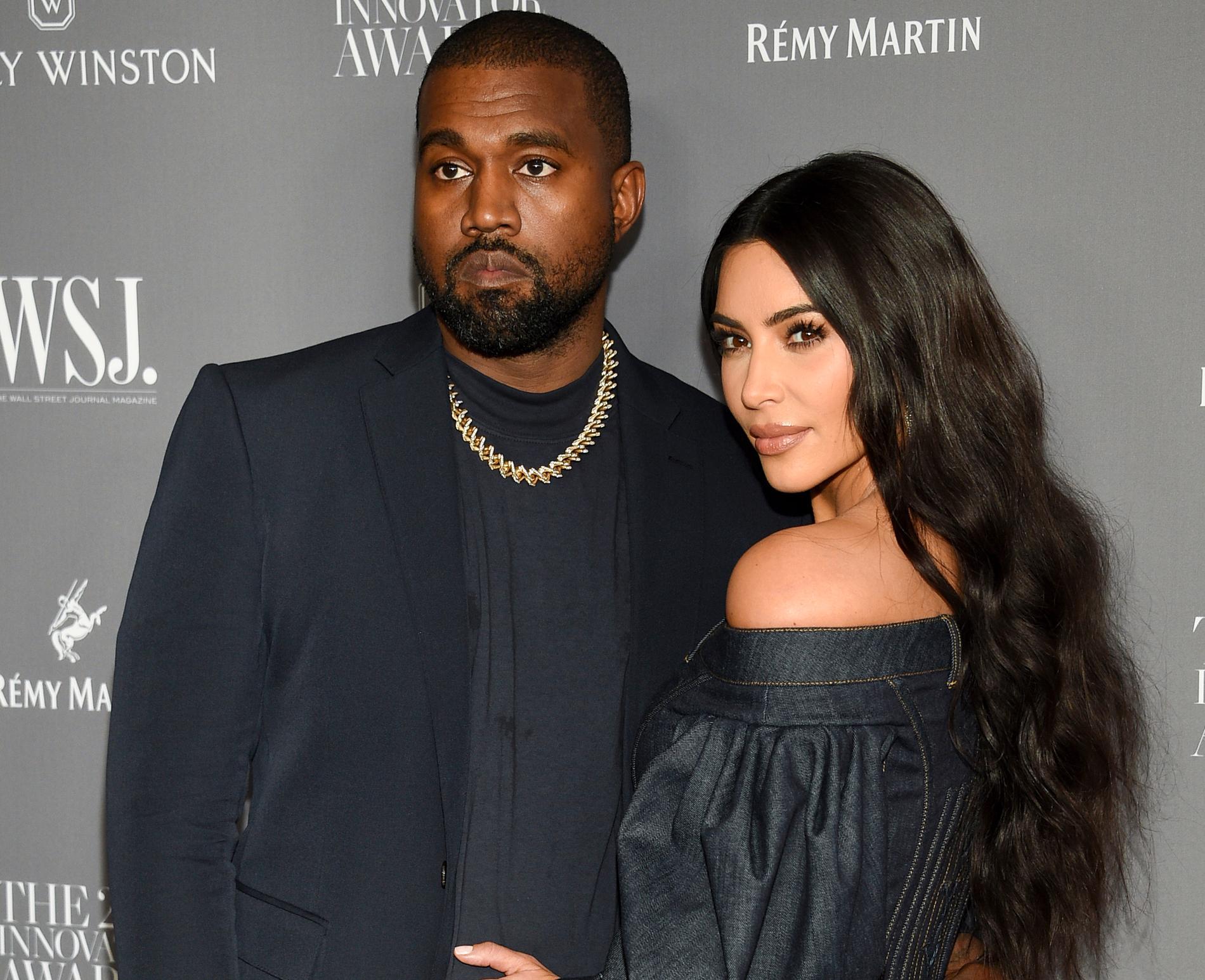 Kanye West och Kim Kardashian.
