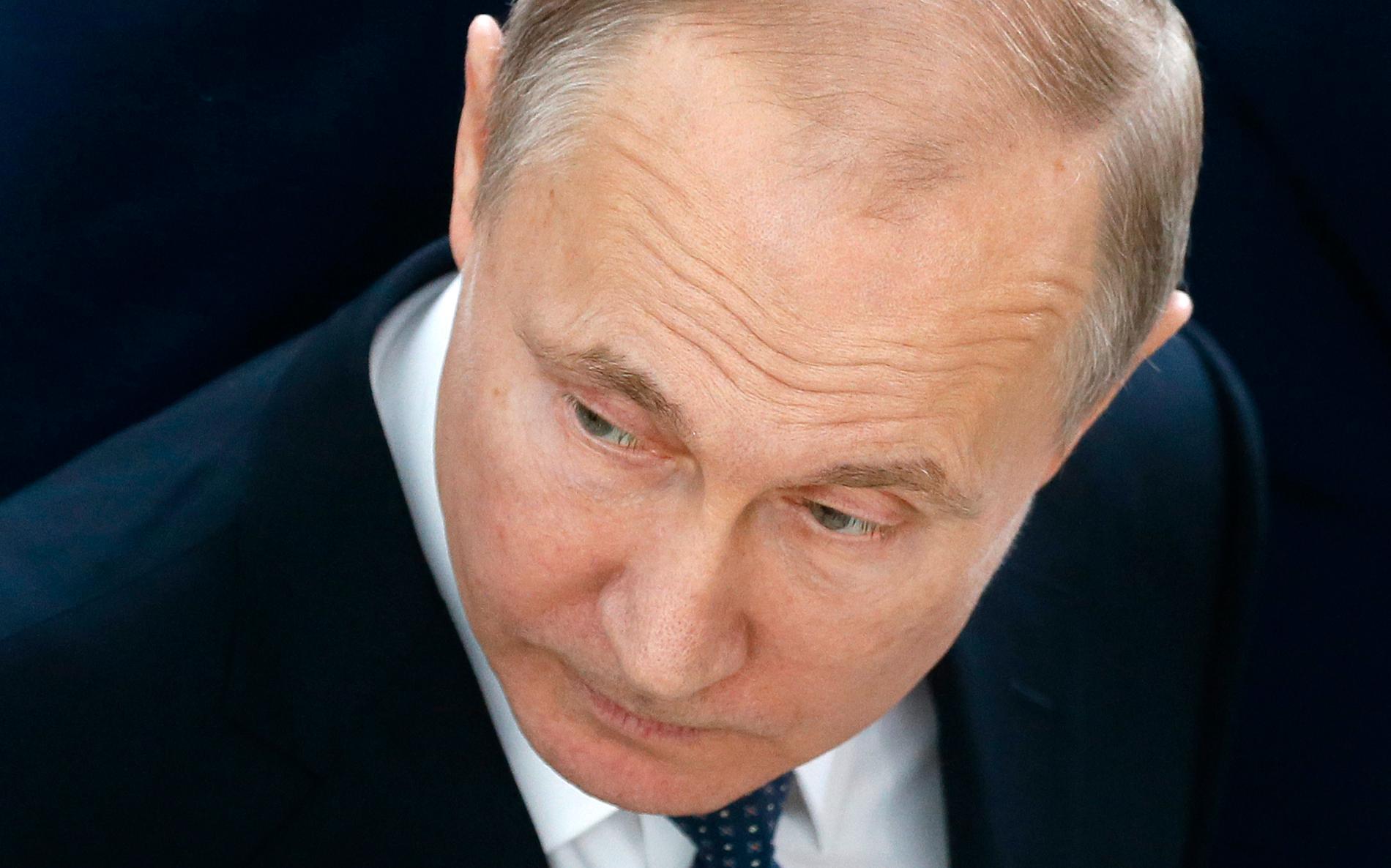 Rysslands president Vladimir Putin kallar attacken i Syrien för aggressiv.