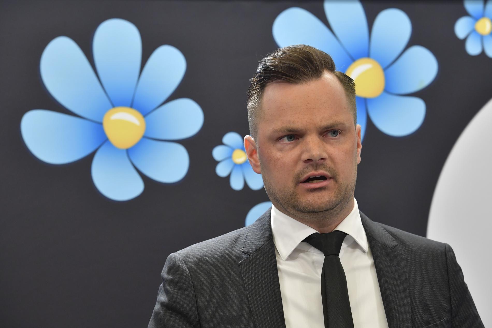 Adam Marttinen, rättspolitisk talesperson för Sverigedemokraterna. Arkivbild.