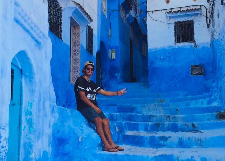 Erico tycker att arkitekturen är vacker i Marocko.