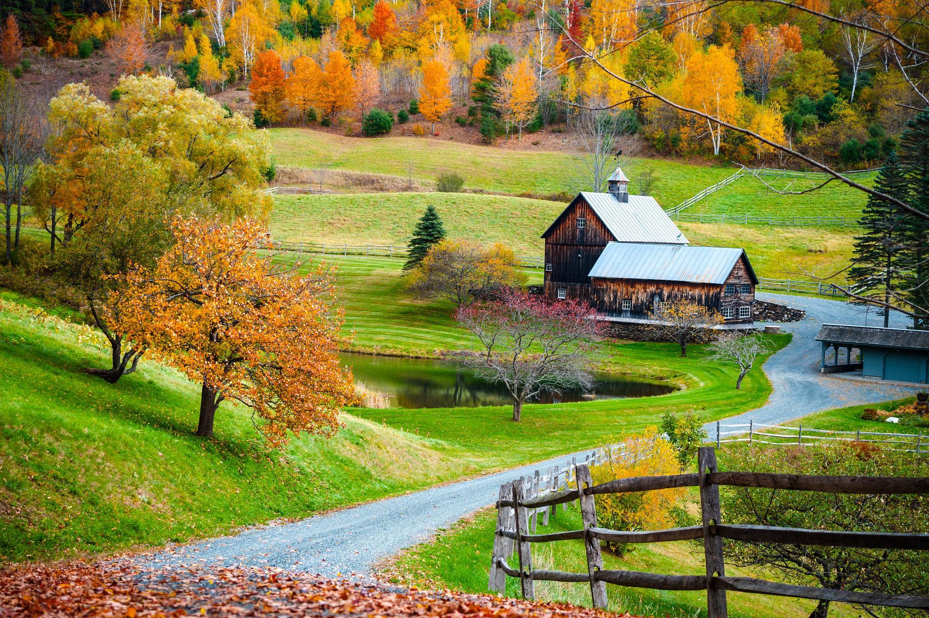 Vermont är extra populärt att besöka under hösten.