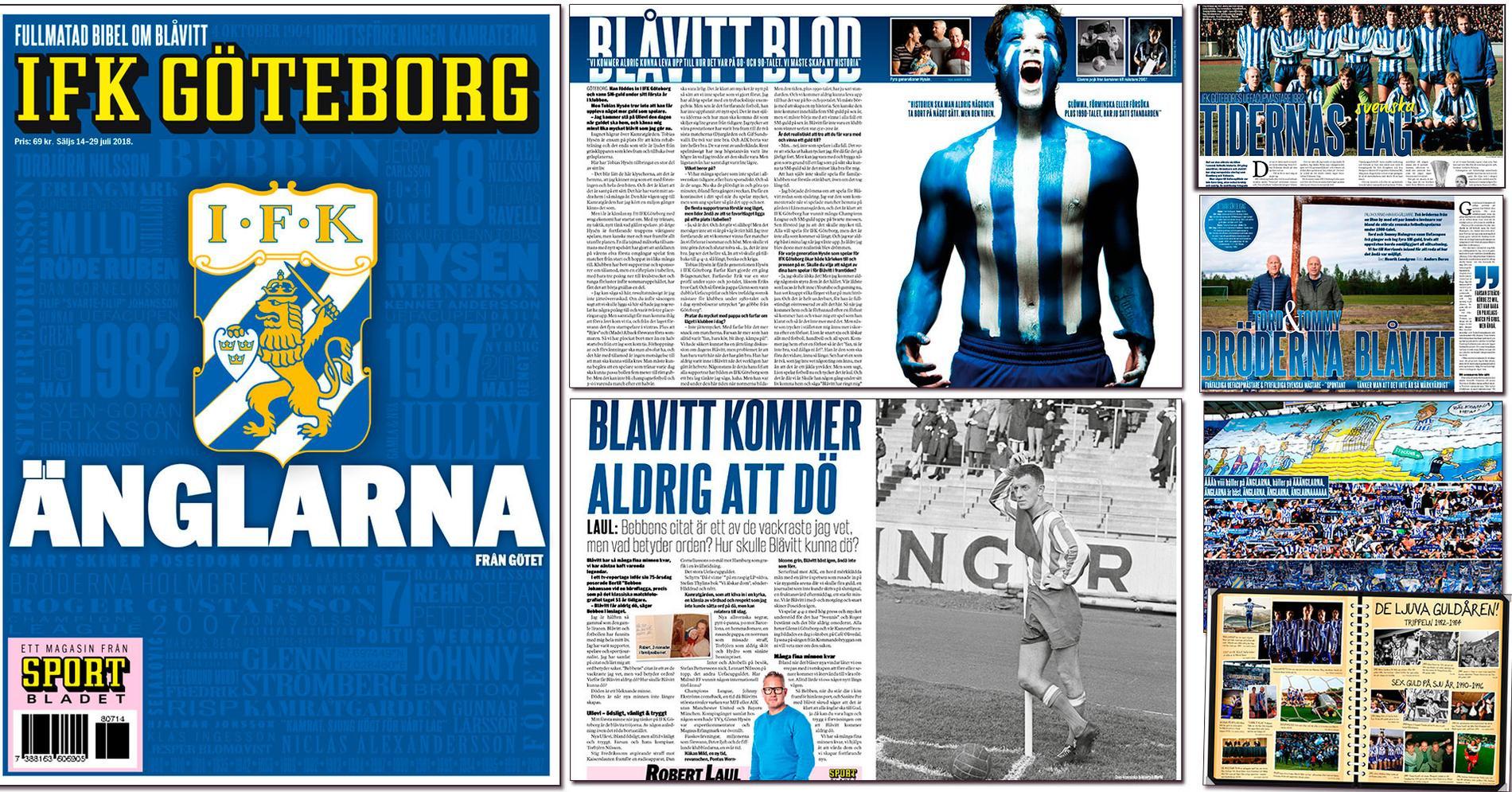 Några av uppslagen i fullmatade bibeln om IFK Göteborg.