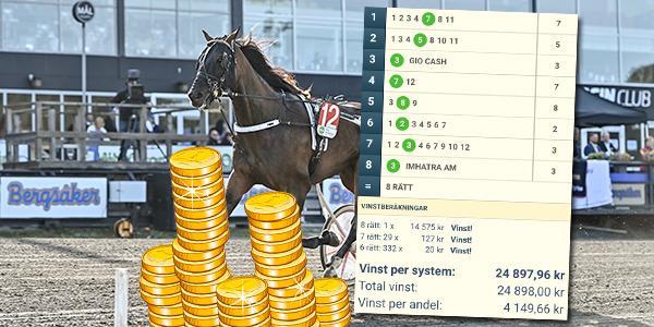Money Smile är en av lördagens V75-skrällar.
