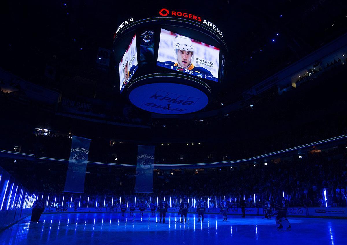 Vancouver-födde Montador hyllades i samband med en match mellan Minnesota och Vancouver i vintras.