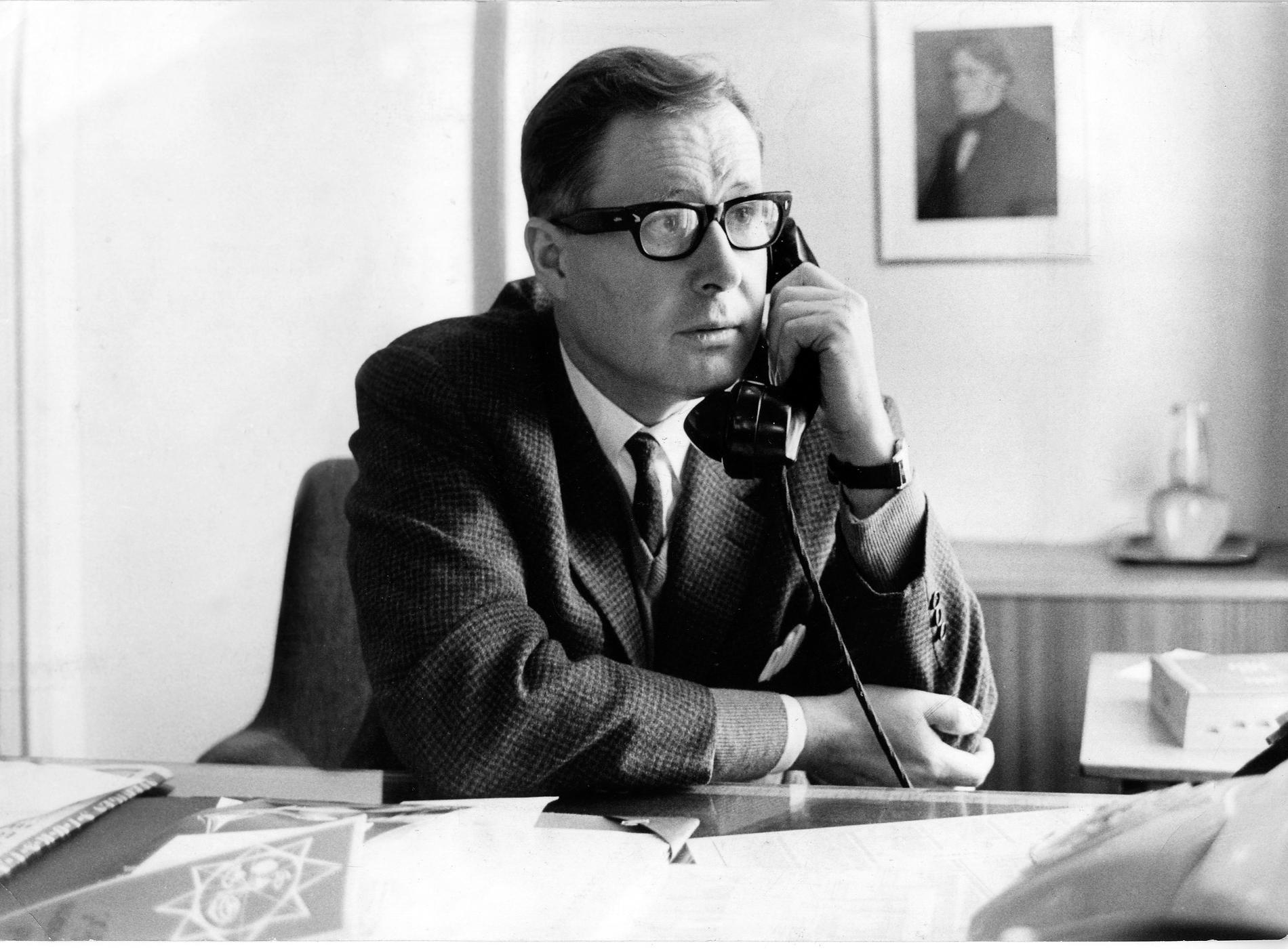 Sven Sörmark var chefredaktör för Aftonbladet 1962–1965, samt 1966–1969. Bilden är tagen 1967.