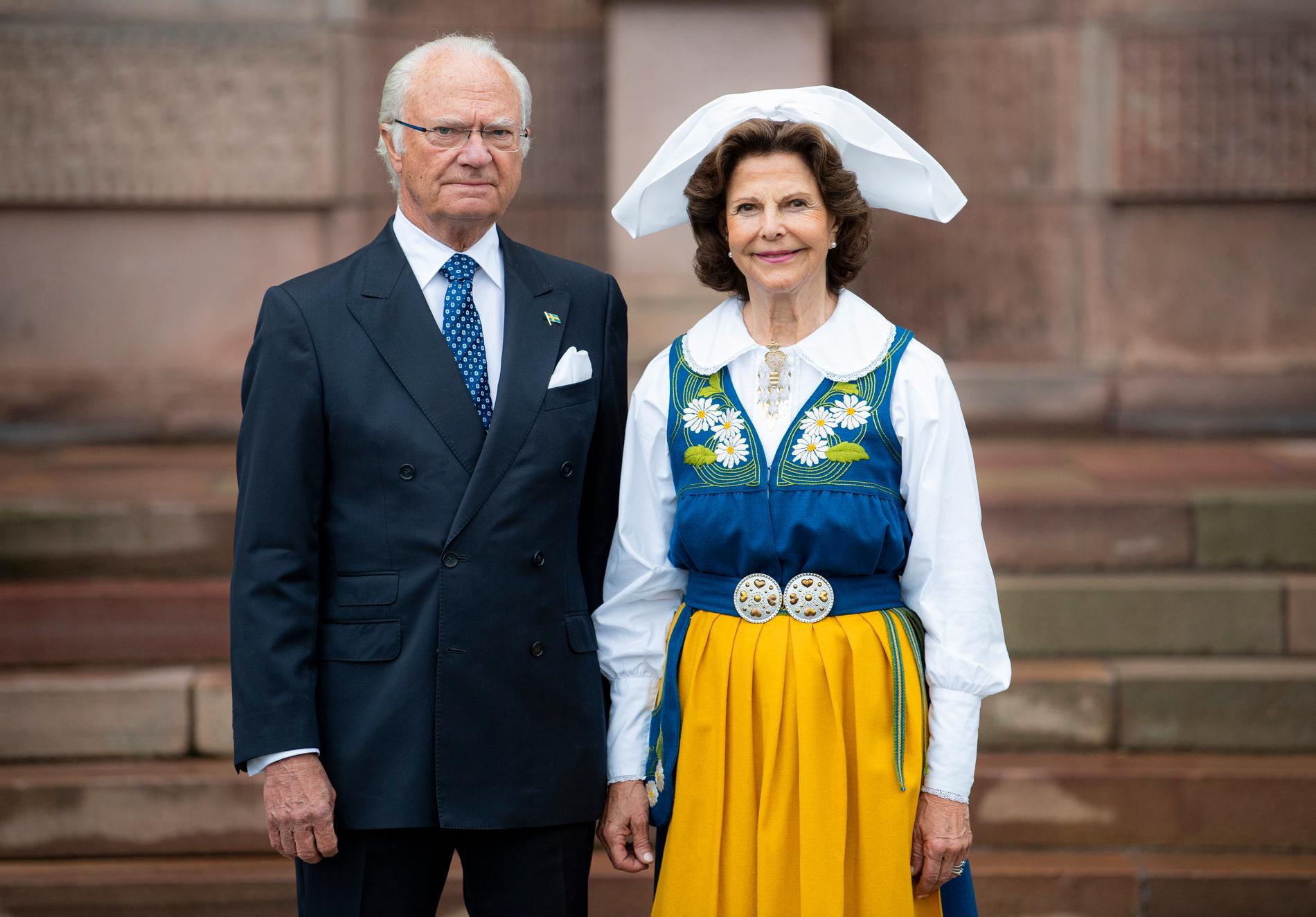 Kung Carl Gustaf och drottning Silvia.