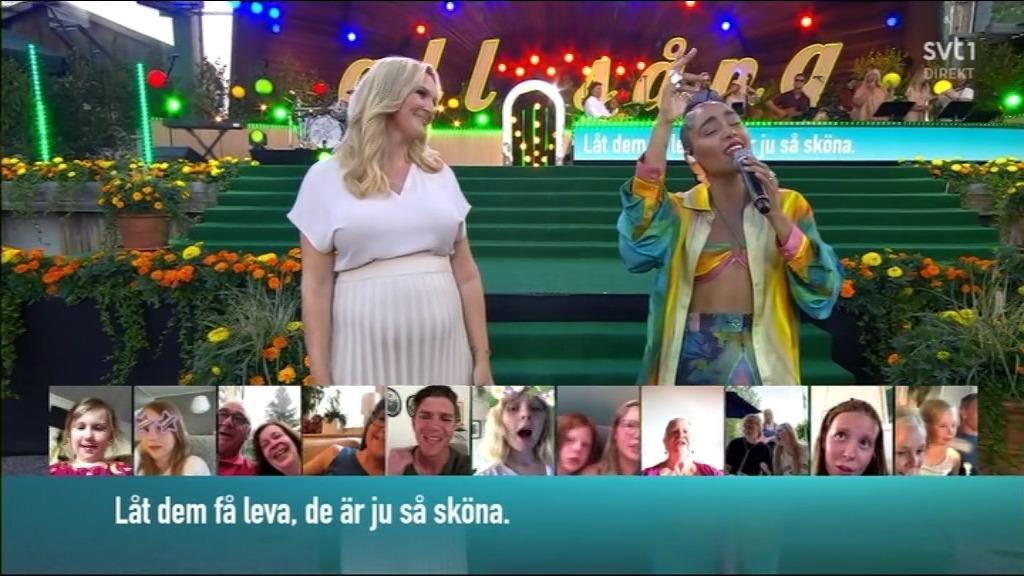 Sanna Nielsen och Loreen.