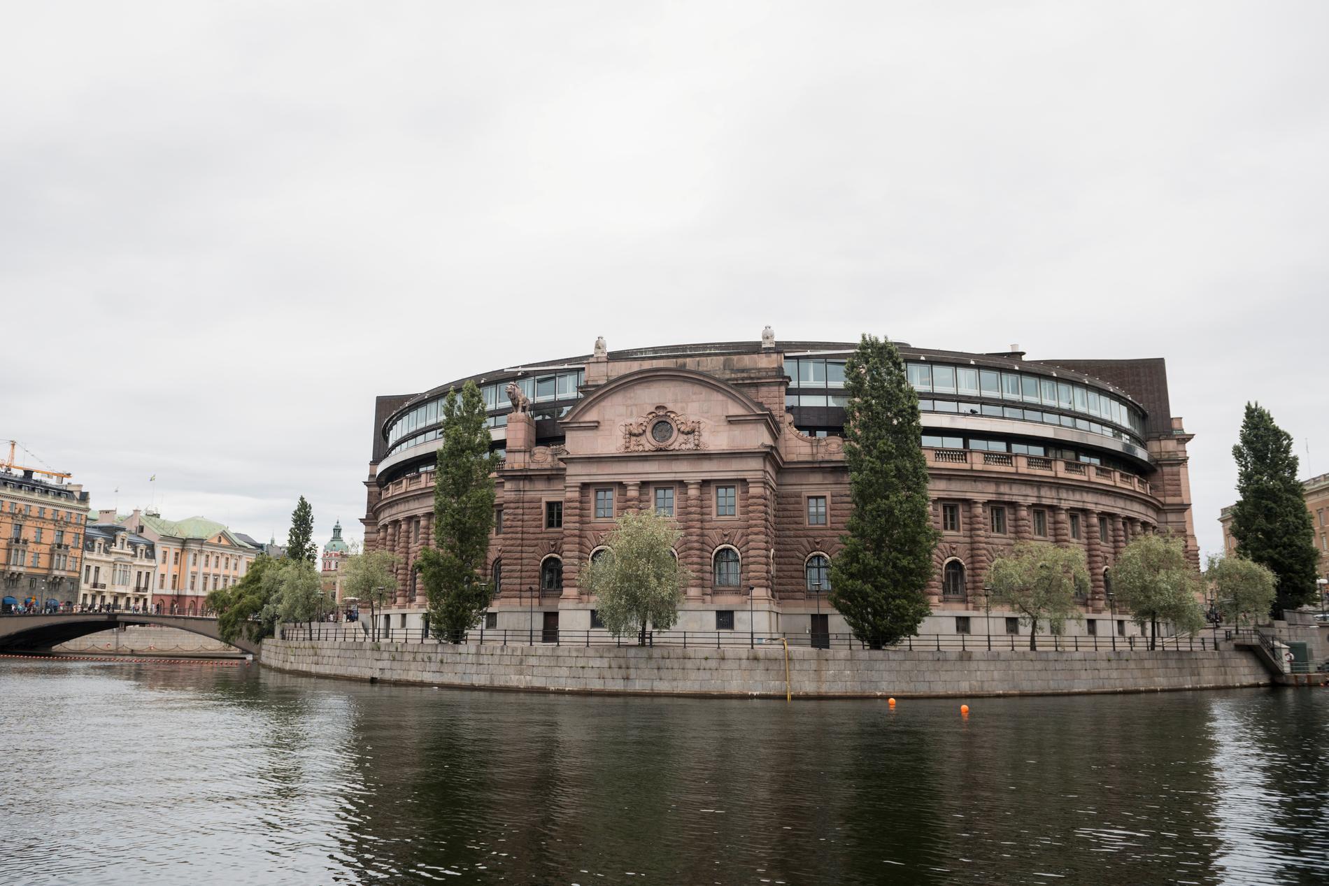 Riksdagshuset på Helgeandsholmen i Stockholm. Arkivbild.