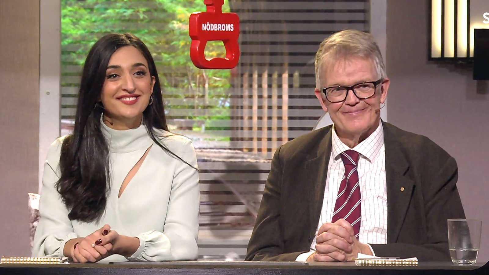 """Parisa Amiri och Gunnar Wetterberg i """"På spåret""""."""