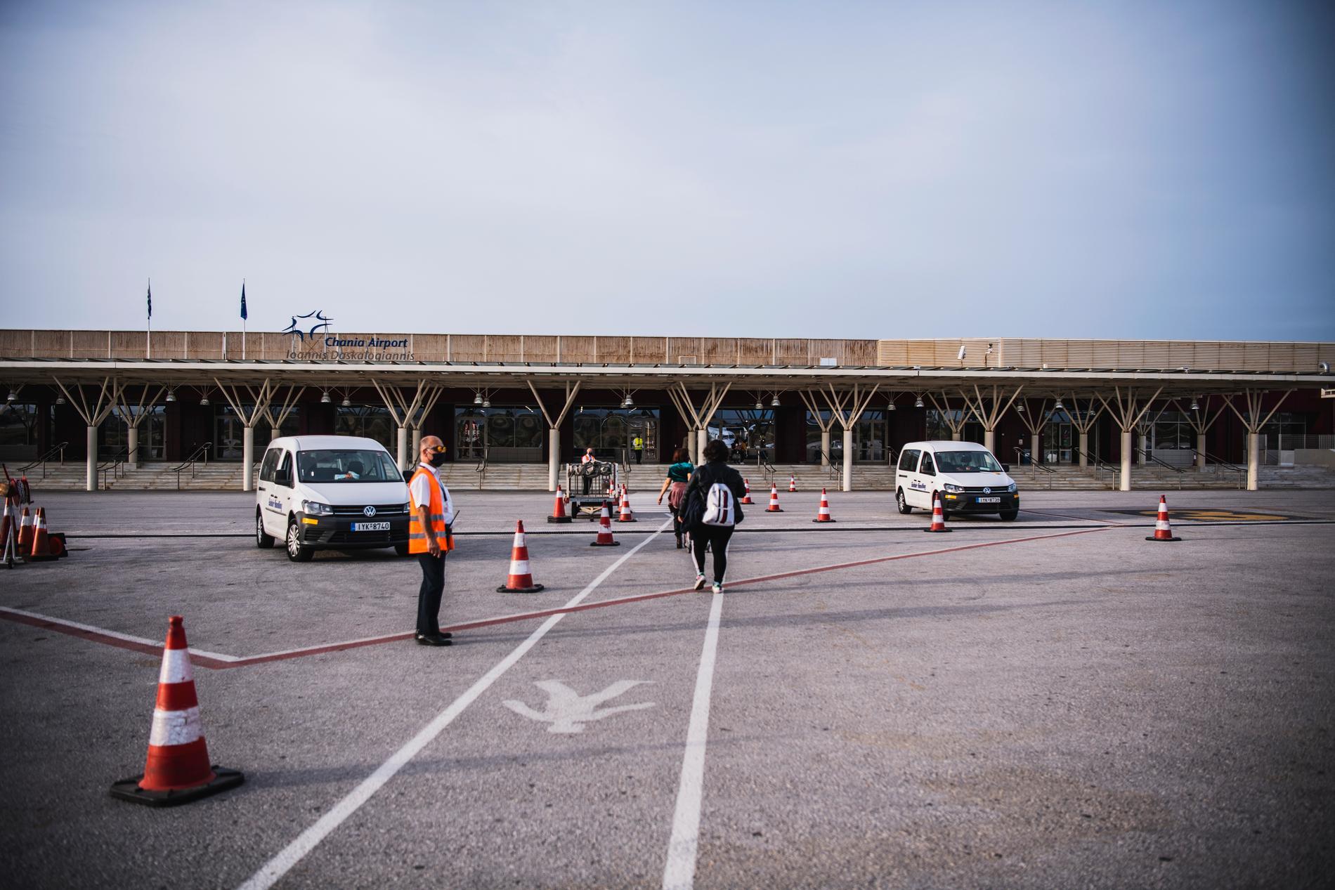 Chania Airport ligger nästintill öde.