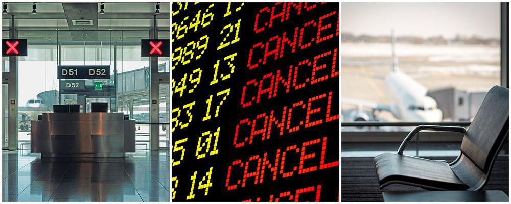 All flygtrafik till och från Belgien stoppades sent igår kväll på grund av strejk.