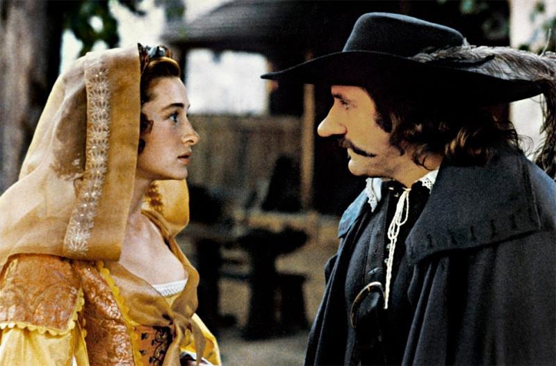 Frankrike står med långnäsa Gérard Depardieu och Anne Brochet i Cyrano de Bergerac.