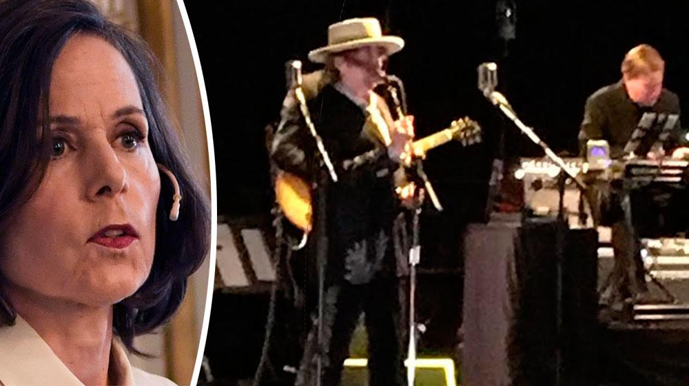 Sara Danius fanns i publiken när Bob Dylan spelade i Stockholm.