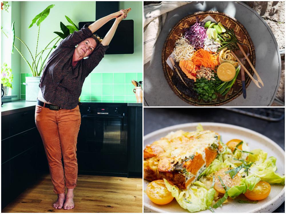 """""""Yoga och mat går hand i hand"""", menar Cecilia Davidsson."""