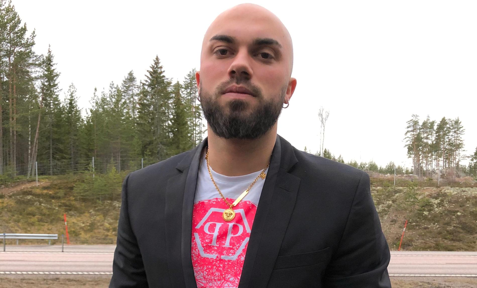 Euglen Bejte konfronterade mannen som gav sig på Chantal på Ica Maxi i Härnösand.