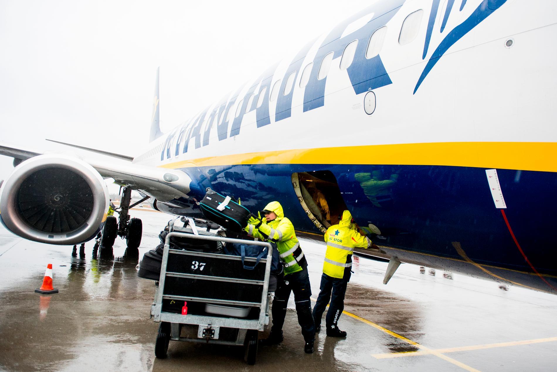 Ryanair inför nya bagageregler i november. Arkivbild.