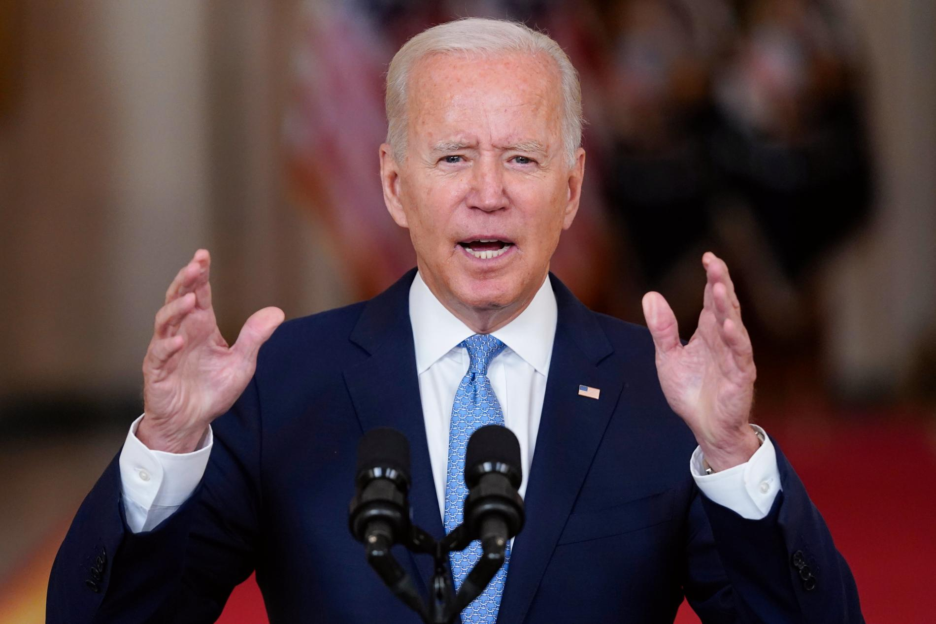 Joe Biden under tisdagens tal till nationen.
