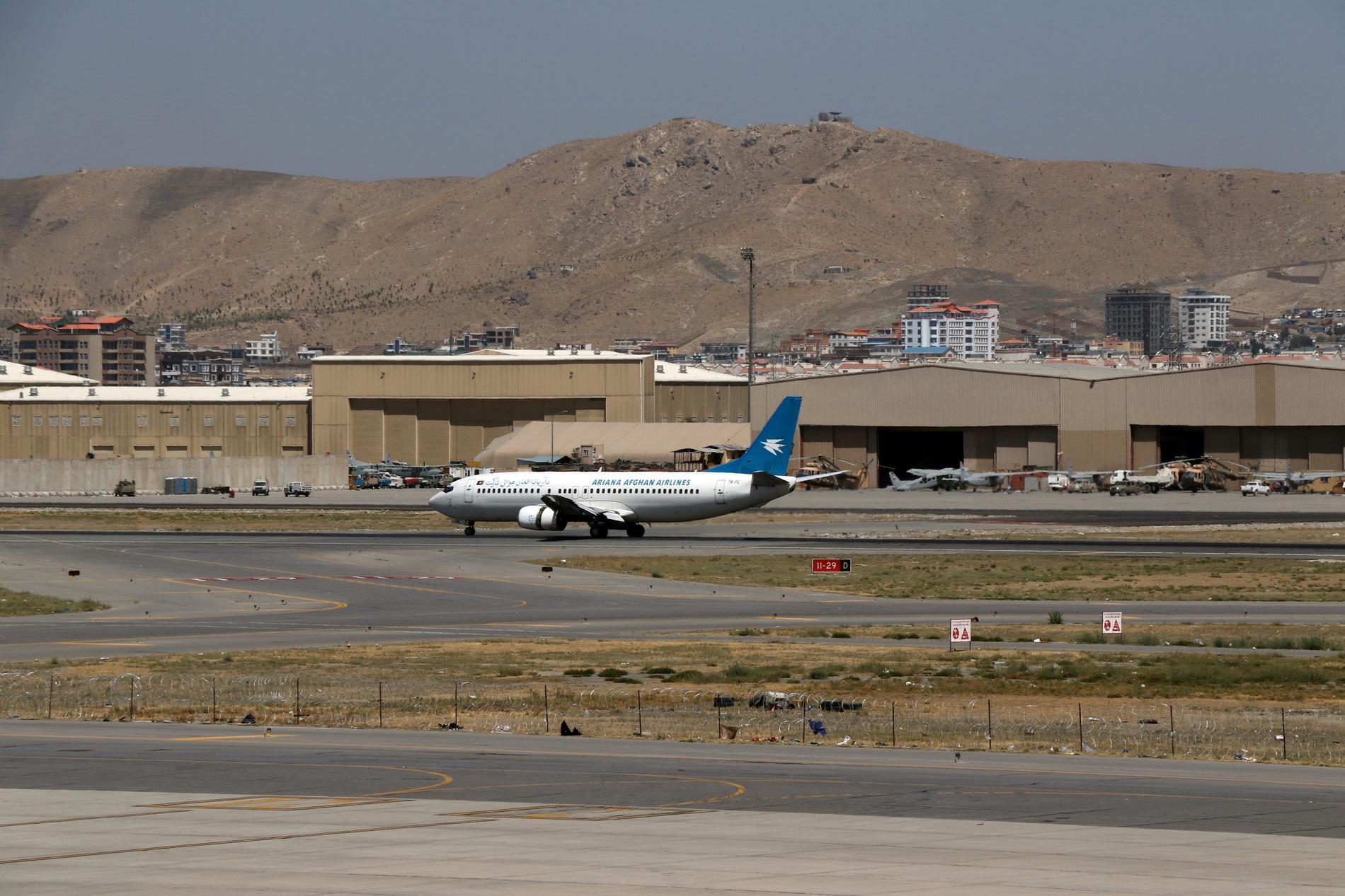Ett fåtal flygbolag trafikerar den internationella flygplatsen i Kabul. Arkivbild.