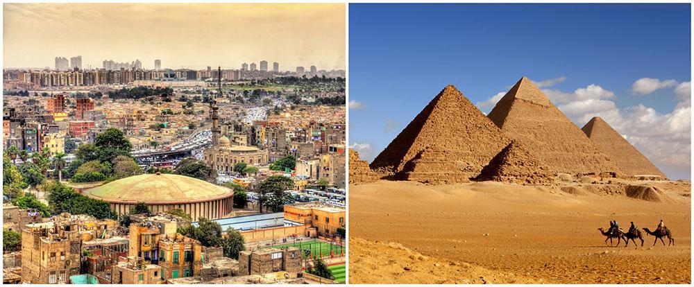 Missa inte de vackra pyramiderna i Giza när du besöker Kairo.