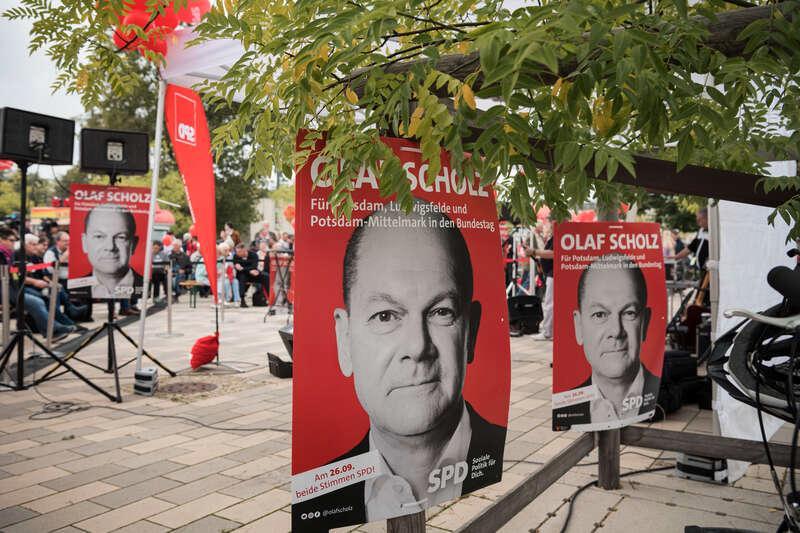 Scholz kan stöta på patrull även om SPD blir störst i valet.