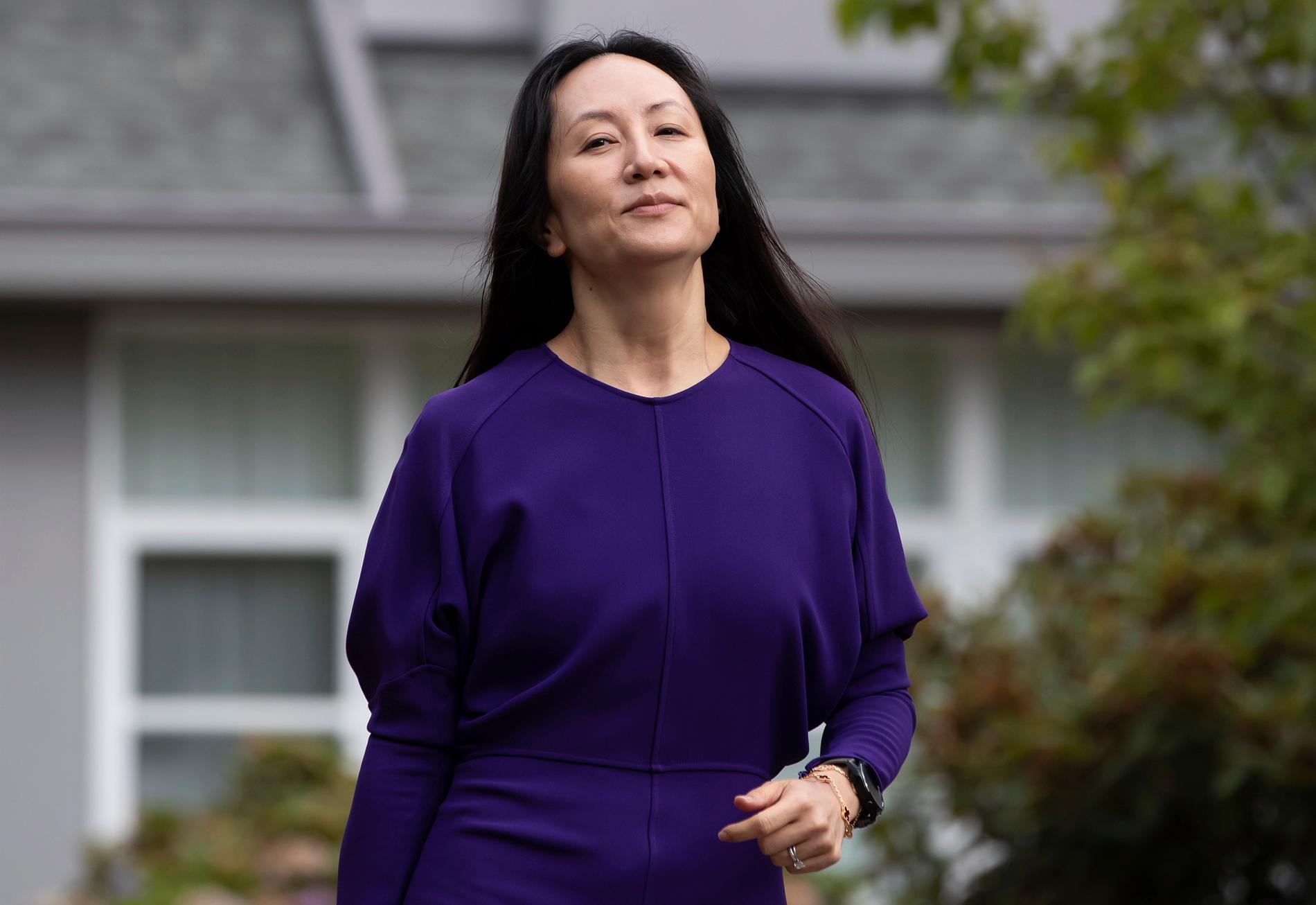 Meng Wanzhou, frihetsberövad ekonomichef för Huawei. Arkivbild.