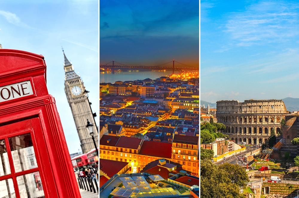 London, Lissabon och Rom hör till de mest bokade weekendresmålen i vår.