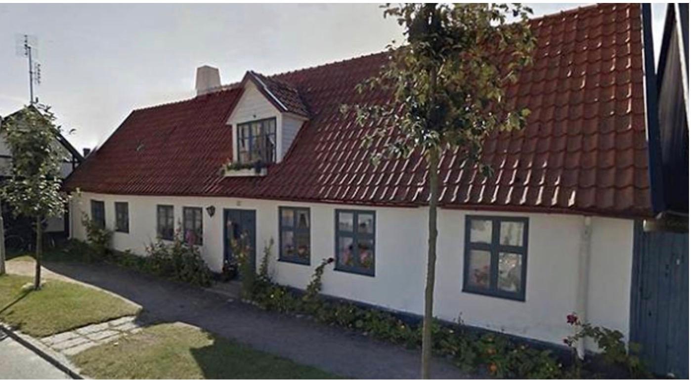 Bergendorffska gården i Falsterbo från 1700-talet var kulturmärkt.