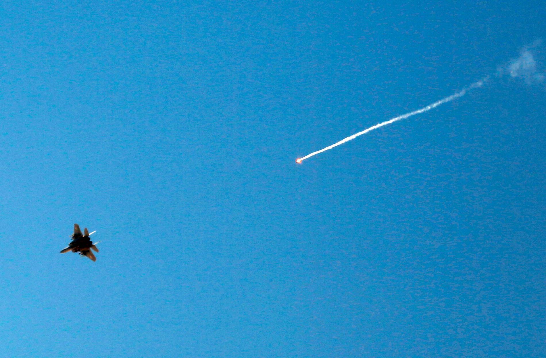 Ett israeliskt stridsflygplan. Bilden är tagen i ett annat sammanhang. Arkivbild.
